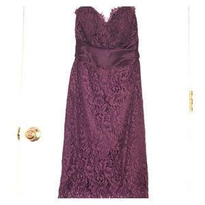 Above the knee length maroon laced dress